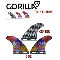 GORILLA FIN【EAT SLEEP WAVE REPEAT TRI FIN SET】MEDIUMサイズ ゴリラフィン Single Tad FUTURE