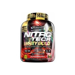Nitrotech 100% Whey Gold 2.5Lbs Double Rich Chocolate (ナイトロテック100%ホエイゴールド 1.13kg ダブルリッチチョコレート) ...