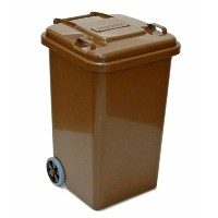 PLASTIC TRASH CAN 65L(ブラウン)
