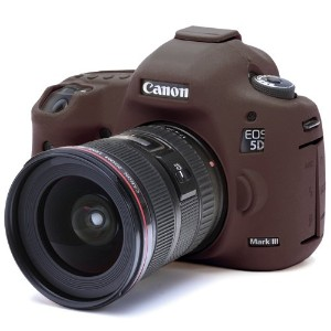 DISCOVERED イージーカバー Canon EOS 5DS / 5DS R/ 5D Mark 3 カメラカバー チョコブラウン  液晶保護フィルム付き