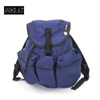 MELO(メロ) MEDIUM 3 POKET BACKPACK MIDNIGHT(NAVY)