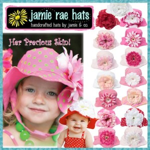 Jamie Rae Hat[ 正規品 ] ジェイミーレイハット / サンハット【2y-4y】03Candy Pink / Candy Pink Daisy