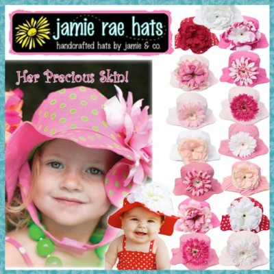 Jamie Rae Hat[ 正規品 ] ジェイミーレイハット / サンハット【12m-2y】11Red Dot/White Large Peony