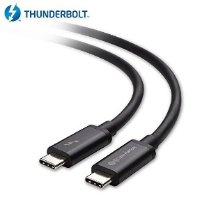 Cable Matters Thunderbolt 3 (20 Gbps) / USB-C 3.1 Gen 2 (10 Gbps) ケーブル 2m(ブラック)