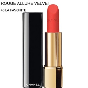 CHANEL-Lipstick ROUGE ALLURE VELVET (43 LA FAVORITE) (parallel imported item 並行輸入品)