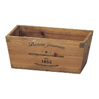 GREEN HOUSE Logo wood planter BR (ブラウン) (215×120×95mm) 3077-C