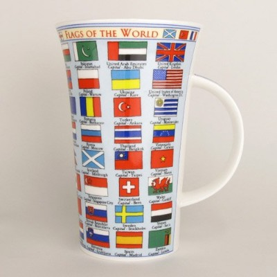 DUNOON ダヌーン マグカップ 大容量 0.5Lタイプ Flags of the World