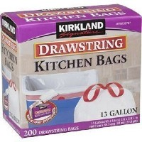 Kirkland Signature Drawstring Kitchen Trash Bags - 13 Gallon - 200 Count [並行輸入品]