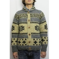 KANATA (カナタ) REDWOOD別注 '12 SNOW&CROSS COWICHAN SWEATER (OATMEAL / CHARCOAL) 38