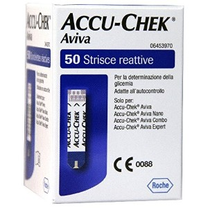 Aviva Test Strips For Measuring Blood Glucose Pack 50 Pieces by Accu Chek