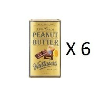 ウィッタカー Chocolate Block Peanut Butter 33% Cocoa 250g 6EA [並行輸入品]