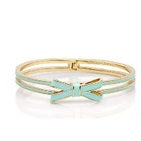 ケイトスペード(katespade)バングル DOUBLE BOW HINGE BANGLE ROBINS EGG BLUE O0RU0956 [並行輸入品]