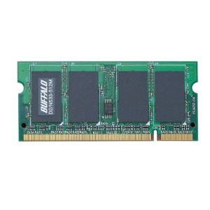 BUFFALO D2/N533相当 法人向け(白箱)6年保証 PC2-4200 DDR2 S.O.DIMM 512MB MV-D2/N533-512M