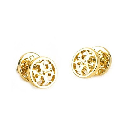 (トリー バーチ) TORY BURCH LOGO CIRCLE-STUD EARRING ピアス #11165518 701 SHINY GOLD 並行輸入品