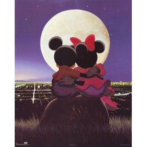 ディズニーポスター Walt Disney Mickey & Minnie: Moonlight