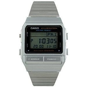 Casio Men's DB380-1 Silver Stainless-Steel Quartz Watch with Digital Dial [並行輸入品]