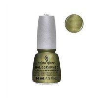 CHINA GLAZE 12 Holographic Nail Lacquers with Hardeners - OMG A UFO (並行輸入品)