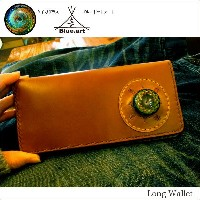 BLUE.art(ブルードットアート)Natural leather long wallet [Horween chromexcel leather]~ Taiga Glass ~ ba-030