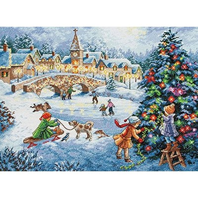 "Gold Collection Winter Celebration Counted Cross Stitch Kit-16""X12"" 16 Count (並行輸入品)"