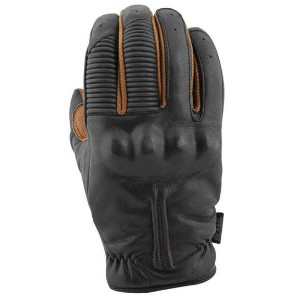 【879973】THE QUICK AND THE DEAD LEATHER GLOVES Black&Tobacco S/M/L/XL/2XL ハーレーパーツ