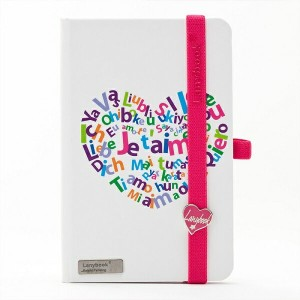 Lany book『LOVESTRUCK(Bianco + Fucsia)』A6サイズ【Made in italy】《送料無料》《後払い対応》【文房具 文具 ステーショナリー ノート note...