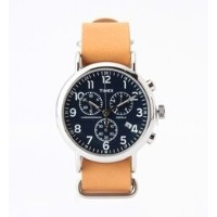 TIMEX / Weekender クロノグラフ Brown/Navy【ビームス ウィメン/BEAMS WOMEN レディス, メンズ 腕時計 BROWN/NAVY ルミネ LUMINE】