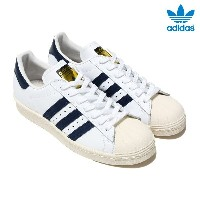 adidas Originals SUPERSTAR 80S (アディダス オリジナルス スーパースター) Running White/College Navy/Chalk White【メンズ...
