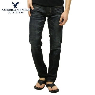 【40%OFFセール 8/17 10:00~8/23 9:59】 アメリカンイーグル AMERICAN EAGLE 正規品 スリムジーンズ JEANS Dark Pure Rinse Wash 0117-2987