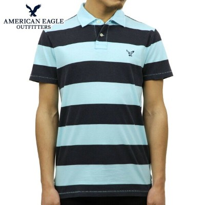 【35%OFFセール 8/17 10:00~8/23 9:59】 アメリカンイーグル AMERICAN EAGLE 正規品 メンズ ポロシャツ AE Striped Jersey Polo 2165...