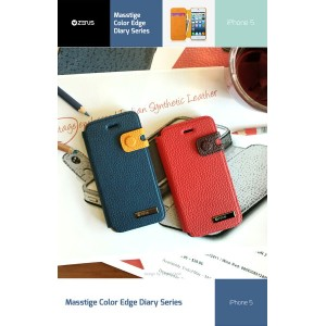 【iPhone SE iPhone5s iPhone5 ケース】ZENUS Masstige Color Edge Diary レザー手帳ケース【iphone 5 カバー iPhone5ケース...