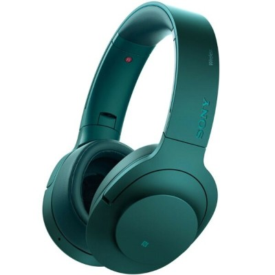 SONY ソニー ワイヤレスヘッドホン h.ear on Wireless NC MDR-100ABN-L ビリジアンブルー 【即納・送料無料】