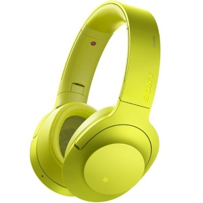 SONY ソニー ワイヤレスヘッドホン h.ear on Wireless NC MDR-100ABN-Y ライムイエロー 【即納・送料無料】