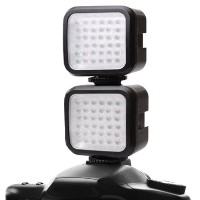2-パック ENHANCE VidBRIGHT 36 Rechargeable ハイ Output Balanced Light LED Camera / ビデオ Light Panel w/...