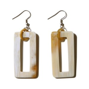 Claude NATURE Horn Earrings 072 ホーンピアス 水牛 ホーンジュエリー