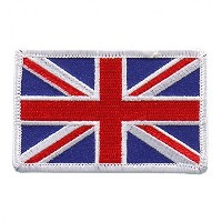 """Embroidered BRITISH Flag PATCH, Iron-On / Sew-On - 3"""" x 2"""""""
