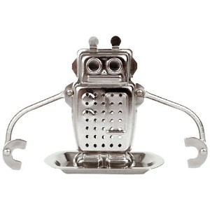 Kikkerland Robot Tea Infuser and Drip Tray ティーパック