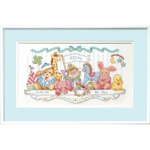 DIM クロスステッチキット Toy Shelf Birth Record 【並行輸入品】Dimensions Needlecrafts Counted Cross Stitch, Toy...