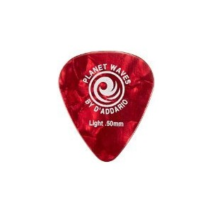 Planet Waves by D'Addario プラネットウェーブス ピック 1CRP2-25 Celluloid Red Pearl 0.50mm スタンダード型 25枚入り 【国内正規品】