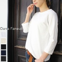 ●●Dana Faneuil(ダナファヌル)ボートネック 7分袖 T 5colormade in japand-5715101-x