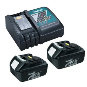Makita OEM DC18RC Charger & 2 BL1830 3.0 Ah Batteries in Retail Package 「汎用品」(海外取寄せ品)