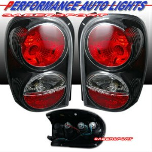 "クライスラー Jeep テールライト 02-07 JEEP LIBERTY BLACK ALTEZZA STYLE TAIL LIGHTS PAIR BULBS INCLUDE ""IN STOCK""..."