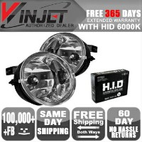 Nissan Titan フォグライト Fit 04-10 Nissan Titan Armada Fog Lights Clear Light Lamps 6000K Xenon HID...