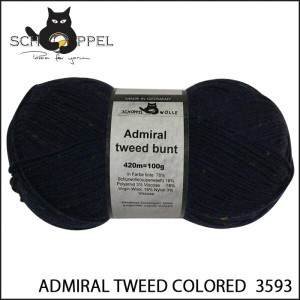 SCHOPPEL 靴下用毛糸 ADMIRAL TWEED COLORED 3593