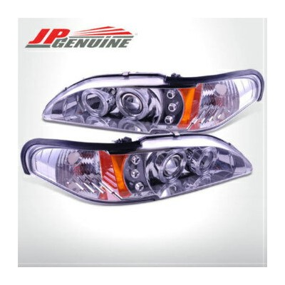 フォード マスタング ヘッドライト LED DUAL HALO 1PC DESIGN PROJECTOR HEADLIGHTS CHROME - FORD MUSTANG 94-98 LED...