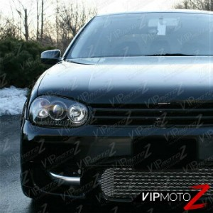 フォルクスワーゲン ヘッドライト 1999-2006 Vw Mk4 Golf/Mk4 Gti Black Halo Angel Eye Projector Headlight Signal 1999...