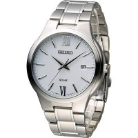 Watch Seiko Solar SNE385P1 Men´s White 《逆輸入品》