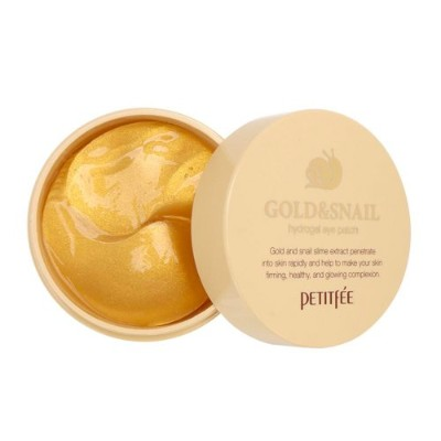 Petitfee [プチぺ] ゴールド & スネール ハイドロゲル アイパッチ / Gold and Snail Hydrogel Eye Patch (6 Pack)
