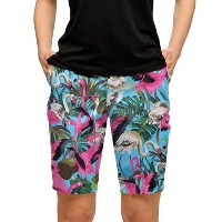 LoudMouth Ladies Pink Flamingos Bermuda Shorts【ゴルフ レディース>パンツ】
