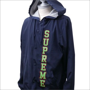 SUPREME(シュプリーム) Vertical Logo Hooded Coaches Jacket (コーチジャケット) NAVY 225-000294-047+【新品】