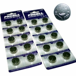 Lot of 20 AG13 LR44 LR1154 SR44 A76 357A 303 357 Alkaline Coin Cell Button Battery by PKCell [並行輸入品]